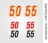 number fifty  50  and fifty...   Shutterstock .eps vector #1497016490