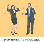 business men and women in suits ... | Shutterstock .eps vector #1497033803