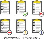 vector of checklist icon sets ...