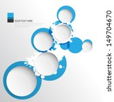 splat and circles background | Shutterstock .eps vector #149704670