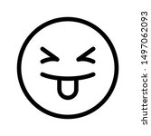 silly expression icon with...