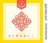 traditional geometric oriental... | Shutterstock .eps vector #1497065339