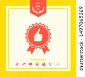 thumb up gesture   label with... | Shutterstock .eps vector #1497065369