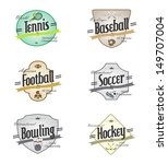sport event sign collection | Shutterstock .eps vector #149707004