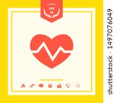 heart medical icon. graphic... | Shutterstock .eps vector #1497076049