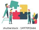 concept of business teamwork.... | Shutterstock .eps vector #1497092666