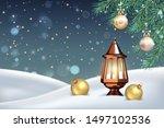 vector christmas winter... | Shutterstock .eps vector #1497102536