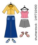 set of clothing for women | Shutterstock .eps vector #149710400