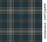 plaid pattern seamless vector... | Shutterstock .eps vector #1497116909