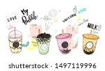bubble tea cup design... | Shutterstock .eps vector #1497119996