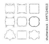 set of vintage frames on white... | Shutterstock . vector #1497124013