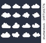 cloud on a dark background.... | Shutterstock .eps vector #1497141776