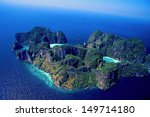 white sand beach with crystal... | Shutterstock . vector #149714180