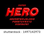 comics style font design  super ... | Shutterstock .eps vector #1497142973