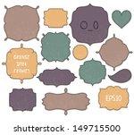 set of stitched grunge frames. | Shutterstock .eps vector #149715500
