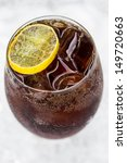 drinks cola in a glass with... | Shutterstock . vector #149720663