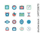 clock and time icon set | Shutterstock .eps vector #149720870