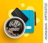 hello monday vector... | Shutterstock .eps vector #1497213713