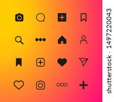 stories set icons. social...