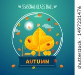 Autumn Garden In A Glass Ball