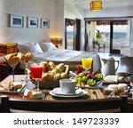 Stock photo breakfast hotel 149723339