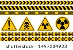 warning label  warning tape ... | Shutterstock .eps vector #1497234923