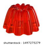 Red Jelly Isolated On White...