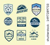 logo set badges adventure... | Shutterstock .eps vector #1497289733