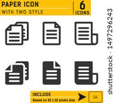 paper icon vector on isolated...