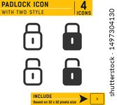 padlock icon vector on isolated ...