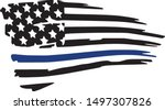thin blue line police support... | Shutterstock .eps vector #1497307826