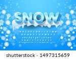 winter vector alphabet with... | Shutterstock .eps vector #1497315659