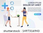 doctor helping patient webpage. ...   Shutterstock .eps vector #1497316943