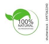 text  100 percent natural. no...   Shutterstock .eps vector #1497362240