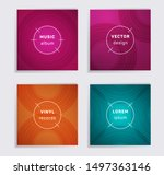 linear plate music album covers ... | Shutterstock .eps vector #1497363146