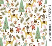 christmas card.vector... | Shutterstock .eps vector #149737043