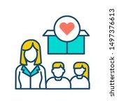 help poor street children color ... | Shutterstock .eps vector #1497376613