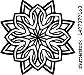 mandala design can be used for... | Shutterstock .eps vector #1497379163