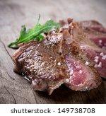 delicious beef steak on wooden... | Shutterstock . vector #149738708