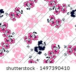 floral bouquet pattern with... | Shutterstock .eps vector #1497390410
