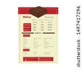 menu brownie coffee chocolate... | Shutterstock .eps vector #1497417296