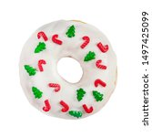 Christmas Donut With White...