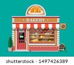 bakery shop building facade... | Shutterstock .eps vector #1497426389