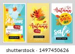 set of autumn sale background... | Shutterstock .eps vector #1497450626