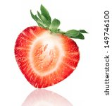ripe half of strawberry is... | Shutterstock . vector #149746100