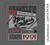 athletic sport team typography... | Shutterstock .eps vector #1497479759