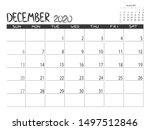 Calendar 2020 Year. December...