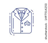 men's suit line icon. groom's...