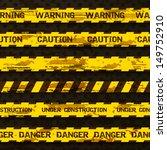 Set Of Grunge Warning Tapes...