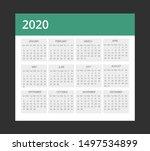 2020calendar layout design... | Shutterstock .eps vector #1497534899